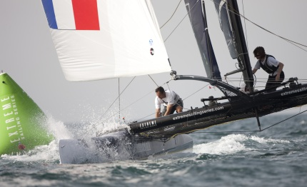 extreme sailing series french favourites on target for act victory