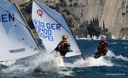 garda optimist dopo regate in testa il romano sepe
