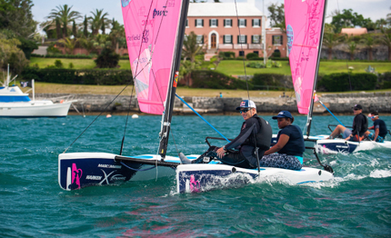 young bermudian sailors get preview of community sailing programme endeavour