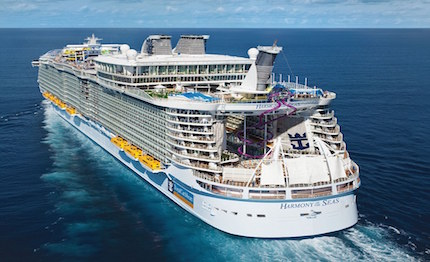 harmony of the seas in italia la nave piu grande del mondo