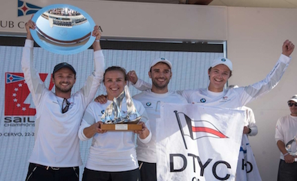 il deutscher touring yacht club si aggiudica la sailing champions league