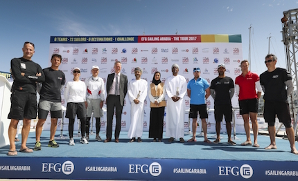partita da muscat la efg sailing arabia the tour 2017