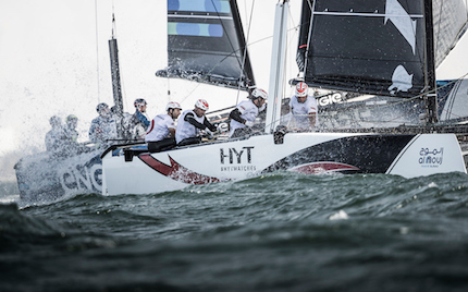 extreme sailing series alinghi secondo muscat in oman