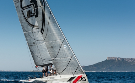 melges 40 grand prix all esordio in regata tra le boe dello yacht club costa smeralda