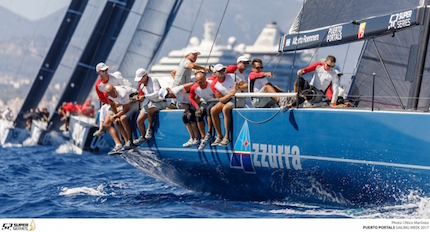 azzurra risale la classifica della puerto portals 52 super series