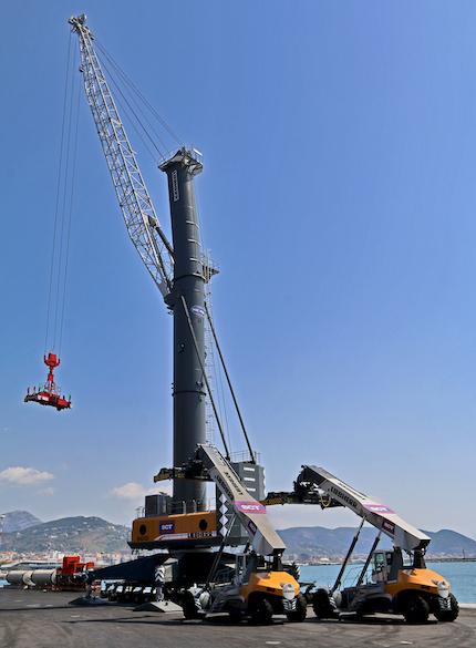 Salerno container terminal schiera tutti suoi nuovi mezzi for Affitti della cabina della penisola olimpica