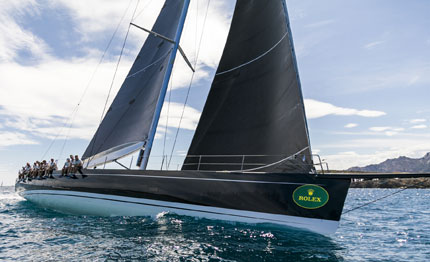 day of surprises kicks off maxi yacht rolex cup
