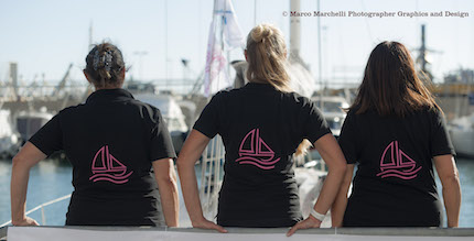 women sailing academy in favore di airc