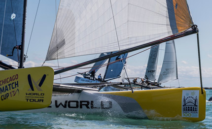 world match racing tour domination and upsets as qualifying concludes in chicago