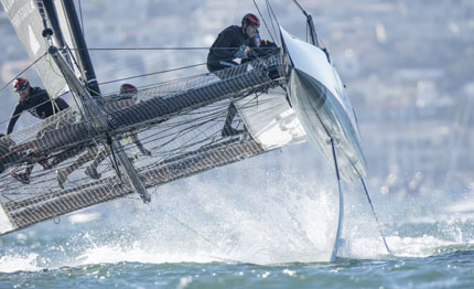 extreme sailing series sap wins in san diego