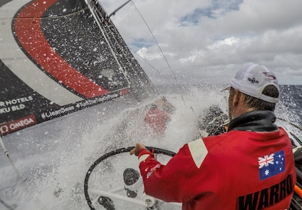 vor man overboard on leg leader sun hung kai scallywag