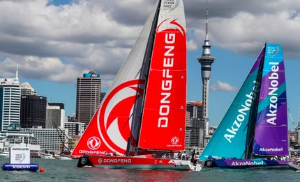 volvo ocean race dongfeng vince la new zealand herald in port race