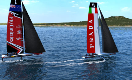 garmin official supplier del team luna rossa challenge