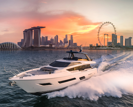 ferretti group star del singapore yacht show