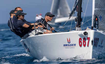 brontolo racing esordisce in grande stile nelle melges 20 world league