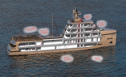 dettagli del layout del concept 85m supply vessel di rosetti superyachts