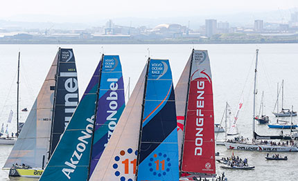 volvo ocean race partenza in slow motion