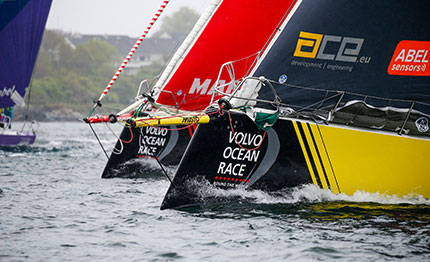 volvo ocean race team pronti per la in port race