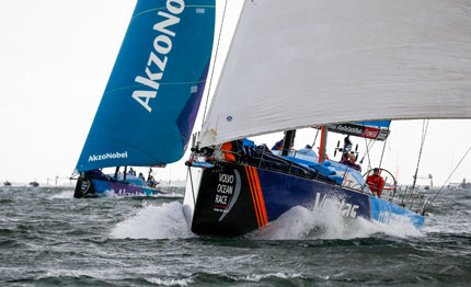 volvo ocean race vestas vince la gothenburg in port race mapfre le series