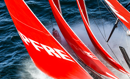 volvo ocean race duello tra dongfeng mapfre ad aarhus