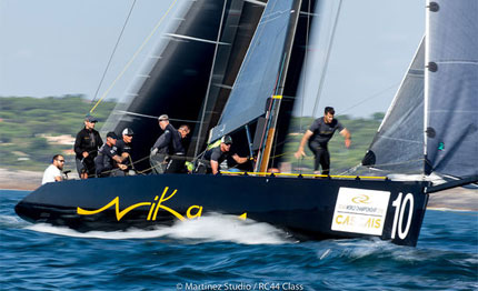 three boats within two points of lead going into rc44 cascais finale