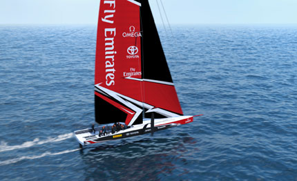 america cup una test boat per new zealand