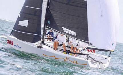 nika vince le miami melges 20 winter series