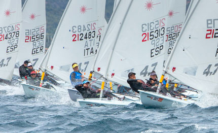 hy 232 res primo giorno del laser youth europeans